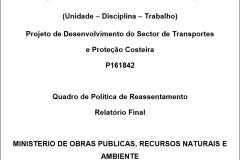 QPR do Projeto da Reabilitacao da RN1 em S. Tomé e Príncipe